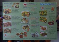 Restaurant Menu, Bangkok to Malaysia by Train, Butterworth Station Penang