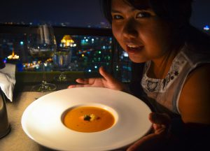 Lobster Bisque, Vertigo Banyan Tree Best Rooftop Restaurant in Bangkok