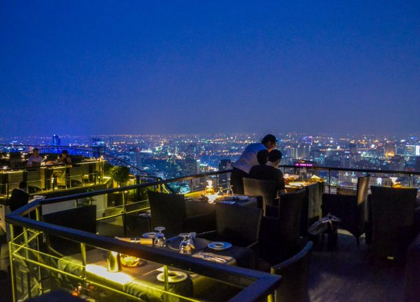 Food with a View, Vertigo Banyan Tree Best Rooftop Restaurant in Bangkok