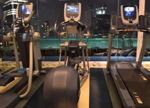 Gym with Views, Hilton Hotel in Em District of Bangkok Skytrain