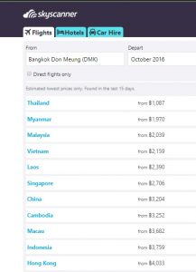 October Flights, Best Cheap Easy Thai VISA Runs from Bangkok (Tourists)