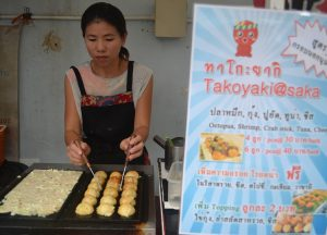 Japanese Stalls, International street food in Bangkok Thailand