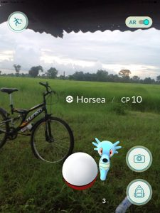 Thai Horsea, Pokemon Go in Bangkok and Thailand