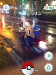 Angry Pinsir, Pokemon Go in Bangkok and Thailand