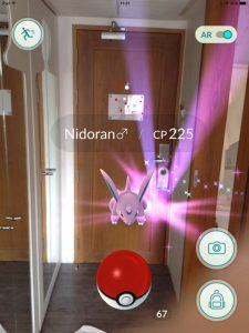Nidoran in Hotel, Pokemon Go in Bangkok and Thailand
