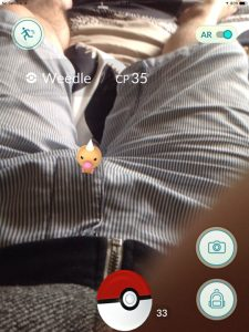 Weedle in Pants, Pokemon Go in Bangkok and Thailand